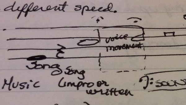 Music stave notes